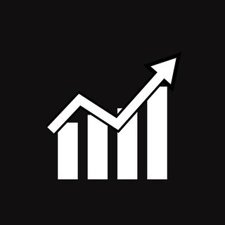 bigstock-Graph-Icon-On-Black-Background-281405383